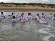 Summer Gasshuku training in the sea